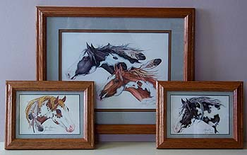 BULK FRAMED REPRODUCTIONS, relative size of 11x14 (large) and 5x7 (small).